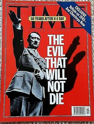 Vintage Time News Magazine ( 8/5/1995) 50th V-E Day Anniversary (EVIL HITLER)