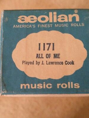Aeolian Player Piano Roll All of Me  #1171 Played by J Lawrence Cook