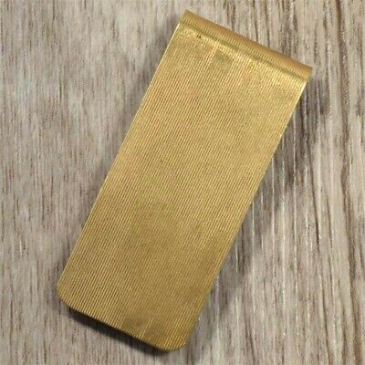 Solid Brass Money Clip Grooved texture Mens Ladies for Notes Wallet Made in U.S.