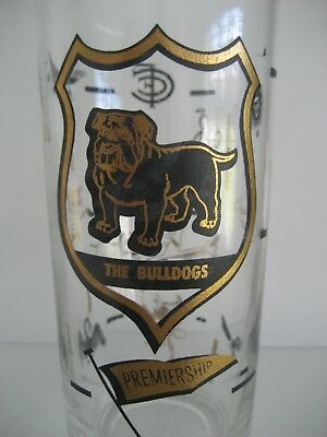 The Bulldogs Footscray Premiership Drinking Glass