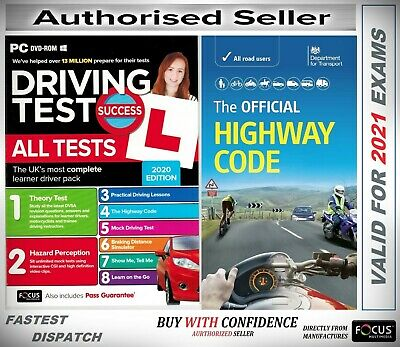 2019 Driving Theory Test & Hazard CD DVD + Official Highway Code Book*atpc+hw