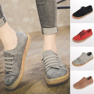 18ed5470c96 Women Suede Slip On Loafers Lazy Casual Flat Shoes Moccasins US Size  7.5-9.5 Lot