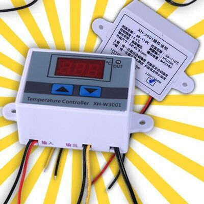 UK Digital LED Microcomputer 12V Thermostat Controller Switch Temperature Sensor