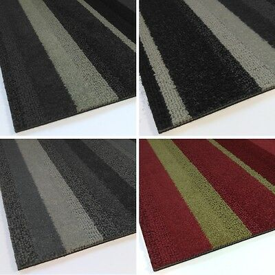 SAMPLE Modulyss CARPET TILES Contract Random Stripe Grey Red Brown Beige