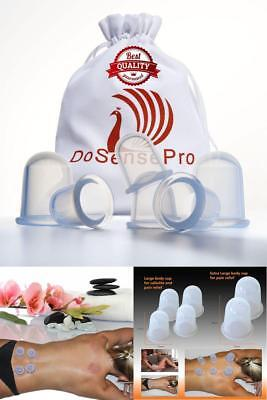 Silicone Vacuum Cupping Anti Aging Cellulite Cup Therapy Body Facial Massage Set
