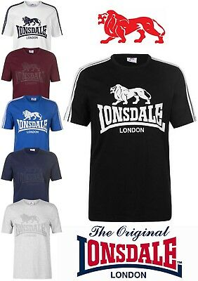 T-Shirt Lonsdale Sport Man Round Neck Great Logo Collection 2018 S To Xxxl