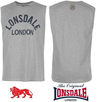 T-Shirt Tank Top Lonsdale Man Boxing Cotton Collection 2018 S To Xxxxl