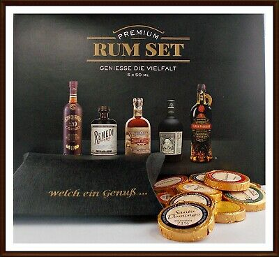 Premium Rum Set Botucal Don Papa Ron Prohobido Centenario Remedy +18 Schokoladen