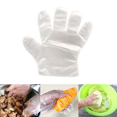 200PCS Home Transparent Plastic Disposable Soft One Time Use Cleaning Gloves