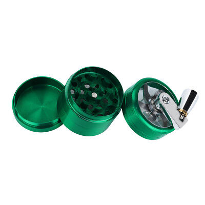 Hand Crank Crusher Cool Tobacco Cutter Grinder Hand Muller Shredder Smoking Case