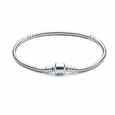 European Silver Charms Bracelet Beads 925 Bangle Chain Fit Sterling Charm Gift