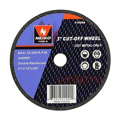 Neiko 3-Inch Cut Off Wheels Metal for Power Tool