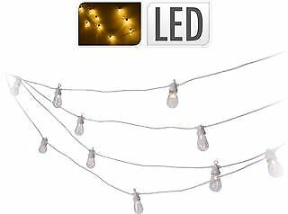 Ghirlanda Catena 20 Led Bianca Luce Calda 234437 Decorazioni Party Lights Festa