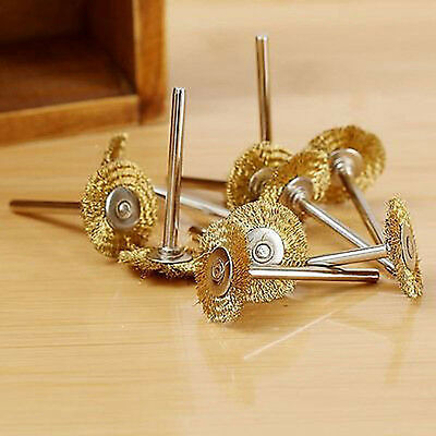 5Pc 3x20mm Wire Wheel Brush Brushes Brass Cup Wheel for Grinder or Drill-Tool