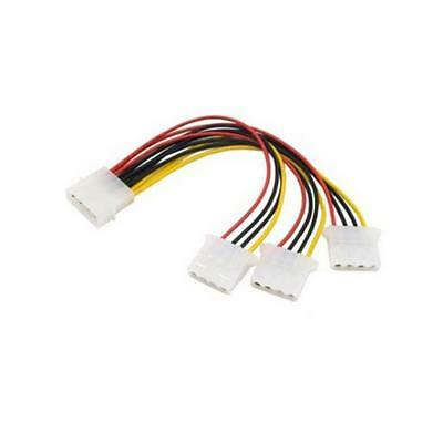 4-Pin IDE 1-to-3 Molex IDE Power Supply Y Splitter Exentsion Cable-cord
