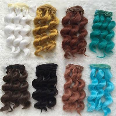 Doll Wig High-temperature Wire Hair for BJD SD-Curly-Toy-Head-Hair-Decor-Toy