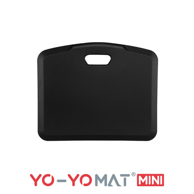Yo-Yo MAT (STANDARD) - Standing Desk Anti-Fatigue Mat (BLACK, 77cm x 50cm)