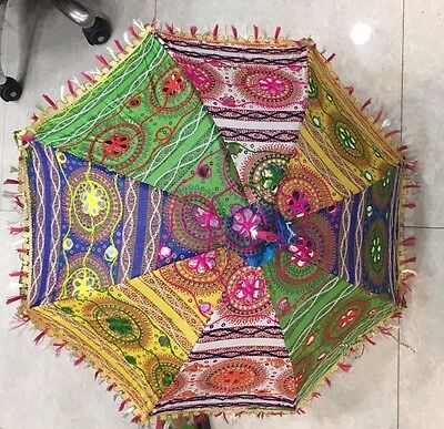 Handmade vintage sari fabric parasol umbrellas indian wedding theme decoratives