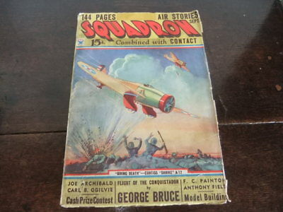 George Bruce's Squadron Air Stories combined with Contact Sept 1934 pulp comic