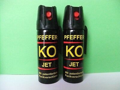 Pepper Jet-- KO-Spray -KO(2x50 ml) pepper jet peperoncino difesa gaz-Pimienta !!