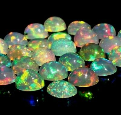 Natural AAA+ Ethiopian Opal Welo Fire Opal Gemstone Wholesale Lot Oval Cabochon