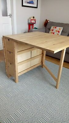 IKEA NORDEN Folding Table, Birch Hood Condition