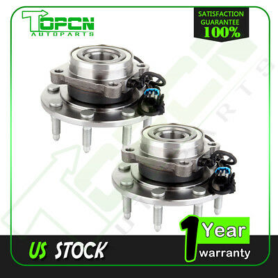 Pair Front LH & RH Wheel Hub & Bearing  for Chevy GMC Truck 8 Lug 4X4 4WD w/ ABS