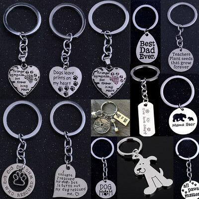 Lovely Pendants Heart Keychain Silver Jewelry Key Chain Key Ring Keyring Charm