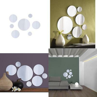 7 Wall Mount Mirror Round Glass Bathroom Mirrors Home Decor Variable Size Set