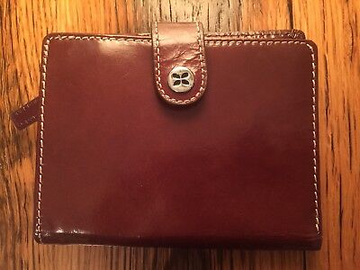 Fossil Leather Passport Wallet Bifold  Brown NWOT Zippers Travel Soft