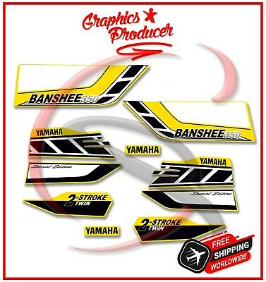 Yamaha Banshee Decals 2006 350 Model Full Set Graphics For OEM Fender Yellow