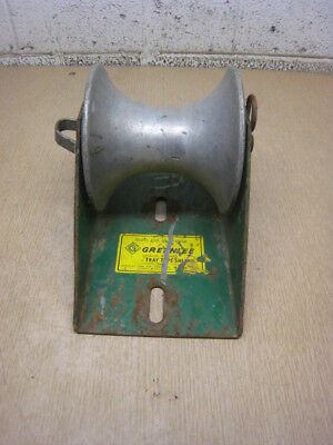 GREENLEE 658 Tray Type Cable Sheave Tugger Puller USED FREE SHIPPING