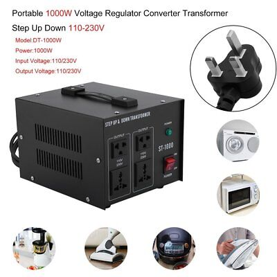 Step Down / Up 230V-110V Transformer UK USA Voltage Converter ST 1000W UK GG
