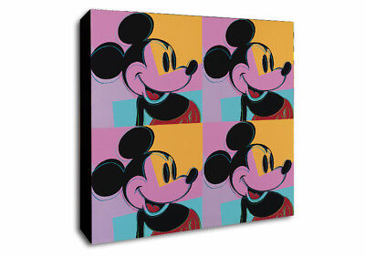 ANDY WARHOL - MICKEY MOUSE- Canvas Wall Art Print - Various Sizes