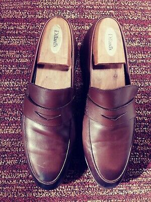 34d001a85abe9 HARRYS LONDON SIZE 42 Tan British Brown Calf Skin Leather Penny ...
