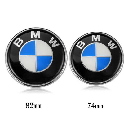2x for BMW 3 5 7 X Series E46 Front Hood Rear Trunk 82mm 74mm Badge Emblems Logo