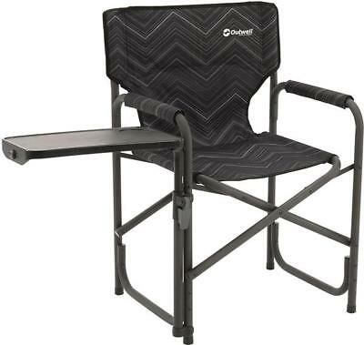 Outwell Chino Hills Folding Directors Chair & Side Table - Black -
