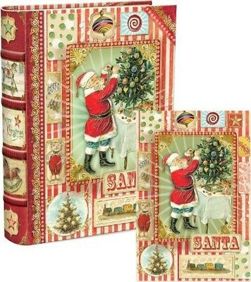 Punch studio nautical boxed note cardsembossed gold anchorset of punch studio christmas santa claus book box holiday greeting cards set of 18 m4hsunfo