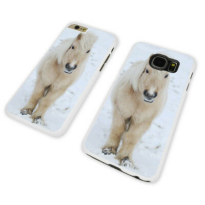 ADORABLE WINTER PONY WHITE PHONE CASE COVER fits iPHONE SAMSUNG