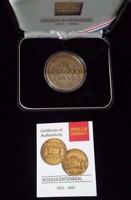 Wells Fargo & Co. 150th Anniversary Commemorative Coin w/ COA & Case Made in USA