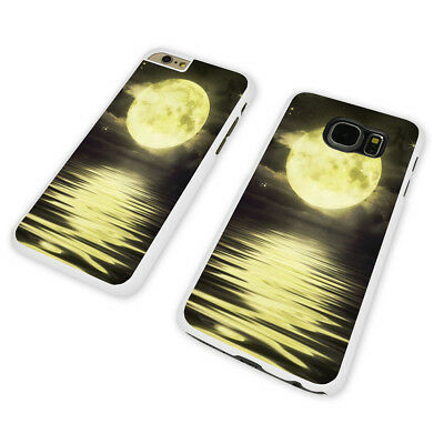 GORGEOUS MOON REFLECTION WHITE PHONE CASE COVER fits iPHONE SAMSUNG