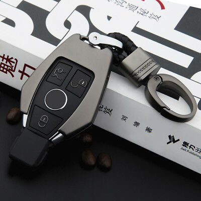 Metal Car Remote Key Case Cover Shell Key Chain Keyring For Mercedes-Benz