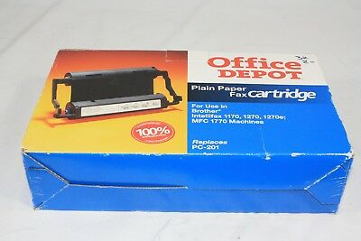 Office Depot Plain Paper Fax Cartridge Brother PC-301 Replacement