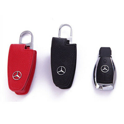 Leather Car Remote Key Case Cover Holder Key Chain Keyring For Mercedes-Benz