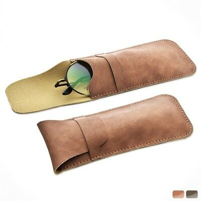 972536cea177 Soft PU Leather Eyeglass Case Small Reading Glasses Case Vintage Foldable  Pouch