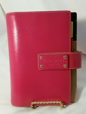 KATE SPADE Personal Agenda Organizer Address Book Pink leather Beautiful