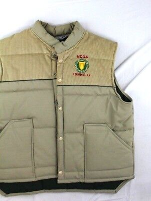 Vintage Swingster sz L quilted puffer vest agriculture advertising
