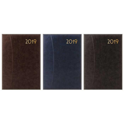 Black A5 2019 One Day to Page Diary with Half Page of Saturday & Sunday Hardback