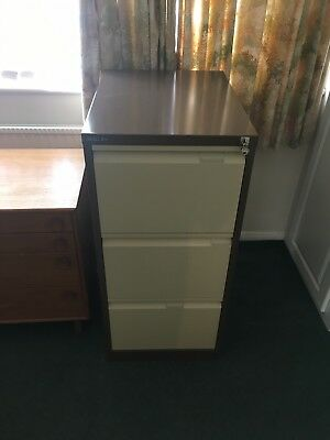 Bisley 3 Drawer Filing Cabinet with 1 key