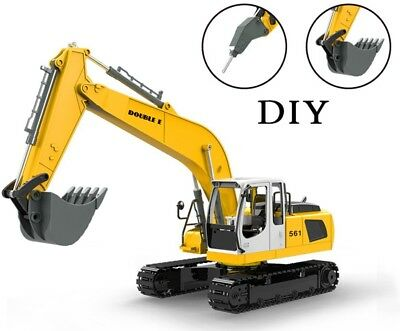 RC Excavator with Remote Control Construction Truck Toy Kids Toddler Tractor Car